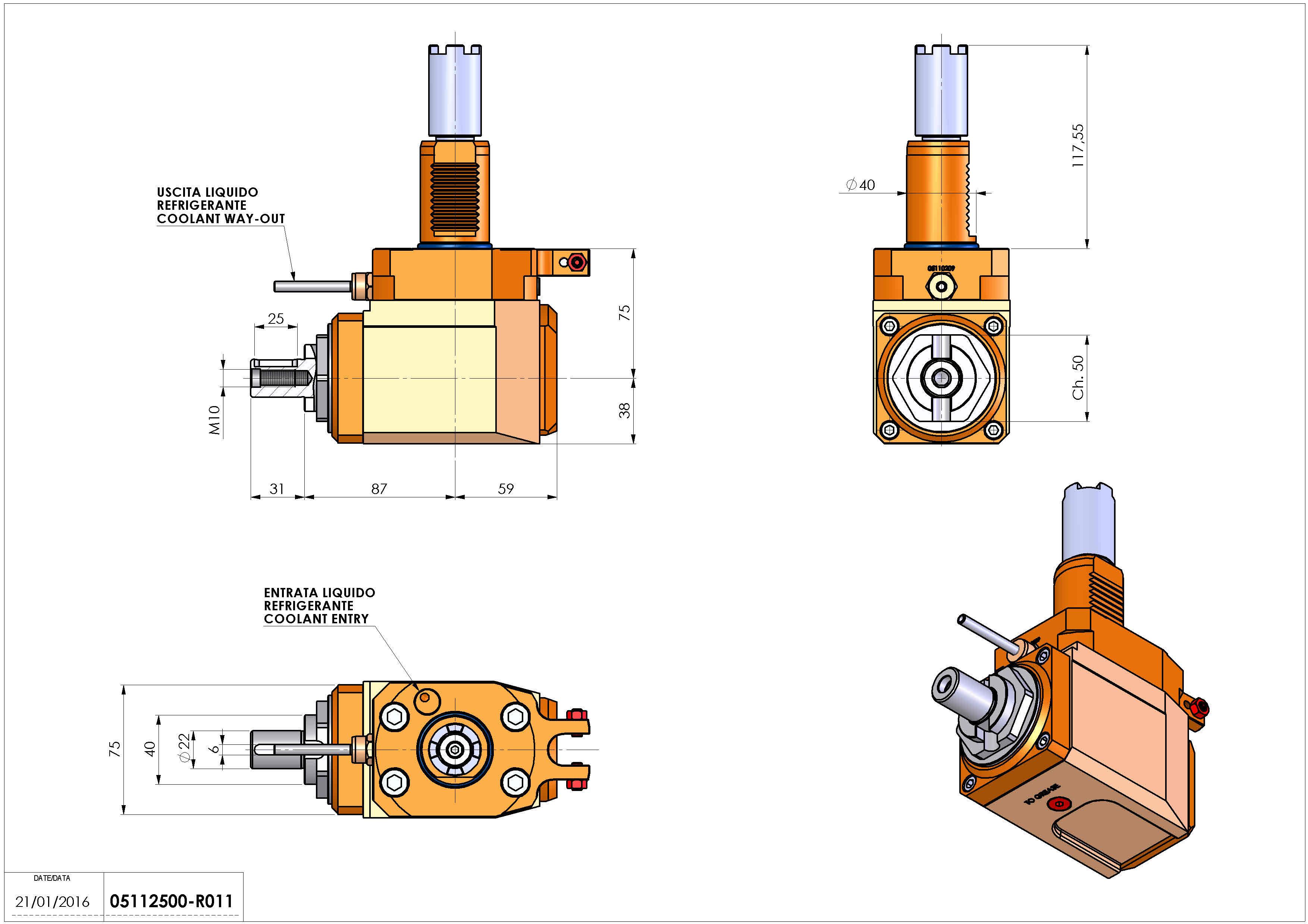 Technical image - LT-A VDI40 DIN22 H75 117 HA.