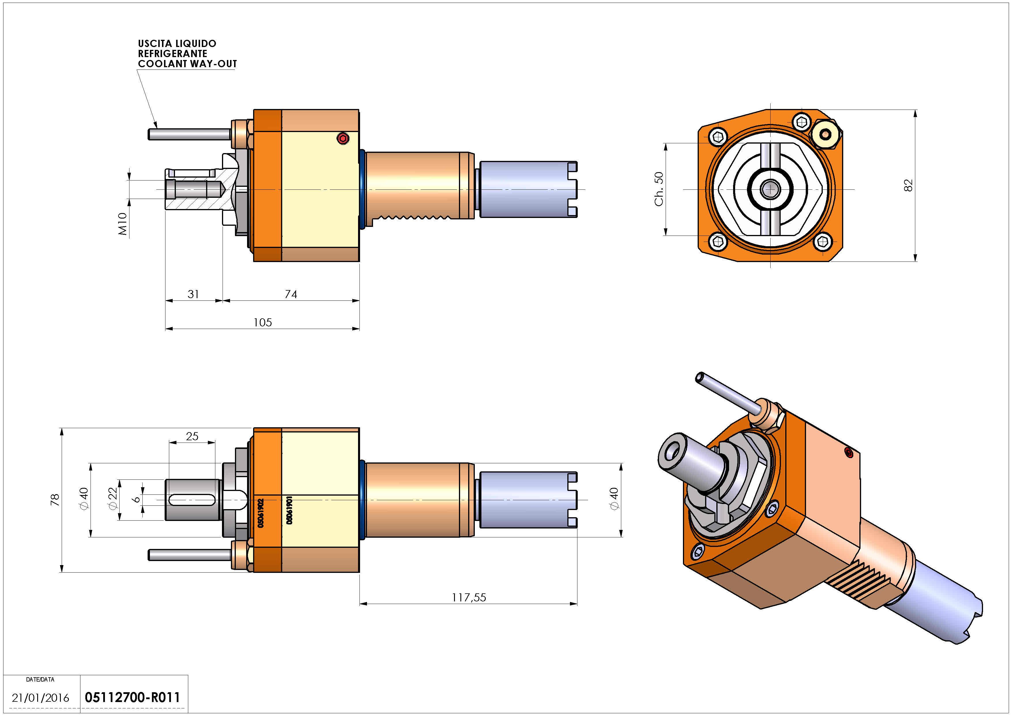 Technical image - LT-S VDI40 DIN22 H74 117 HA.