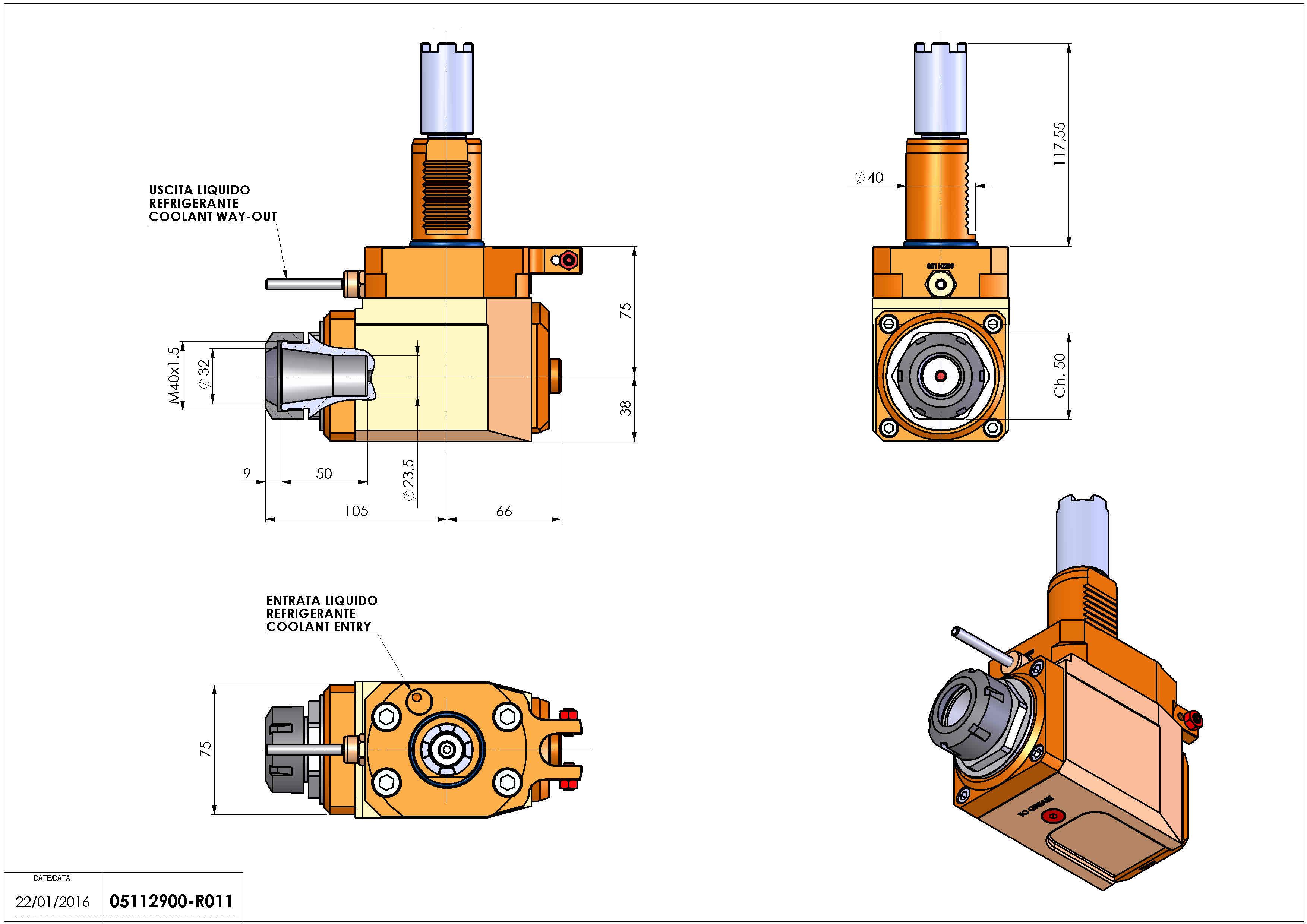 Technical image - LT-A VDI40 ER32 H75 117 HA.