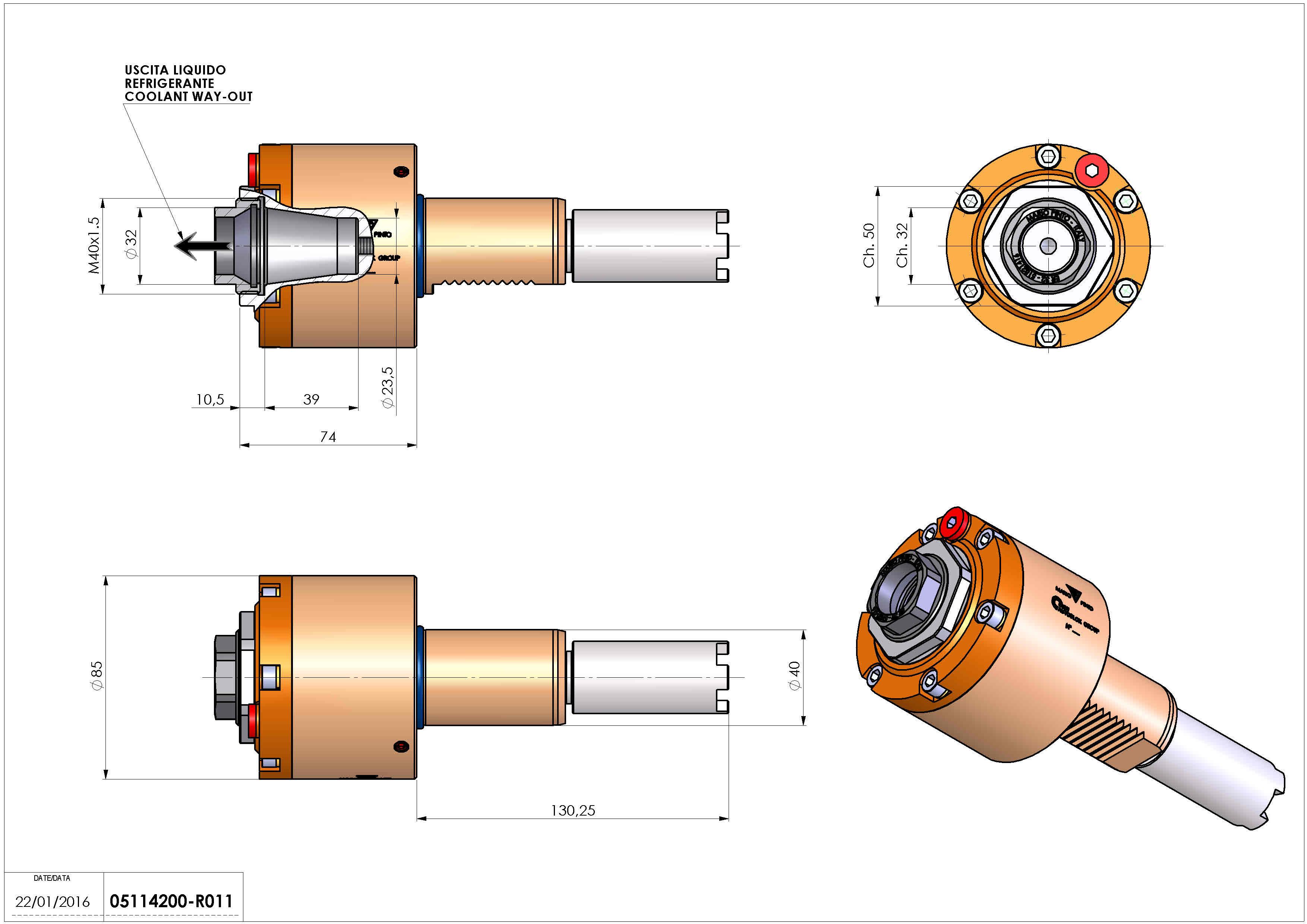 Technical image - LT-S VDI40 ER32F RF H74 130 HA.