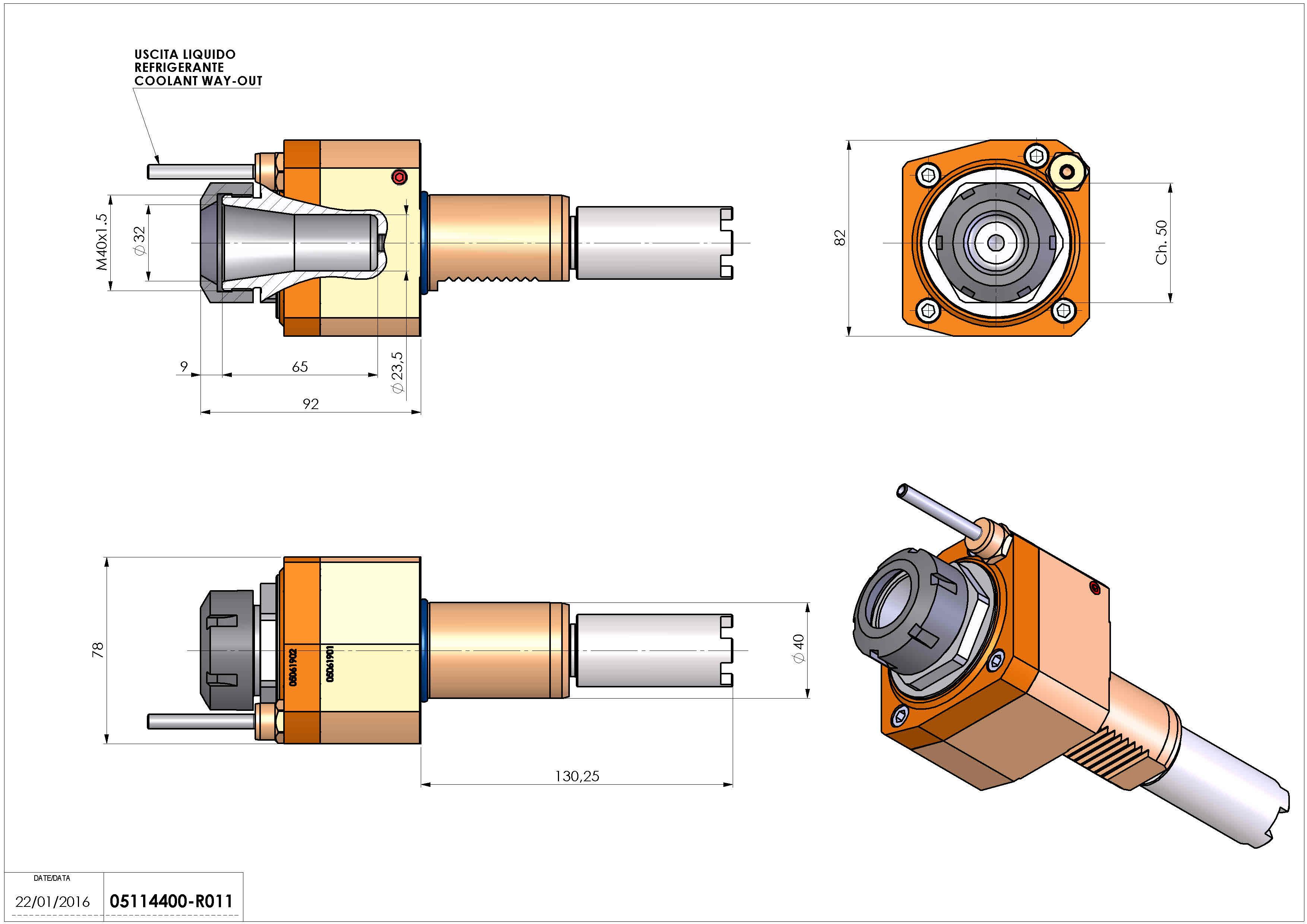 Technical image - LT-S VDI40 ER32 H92 130 HA.