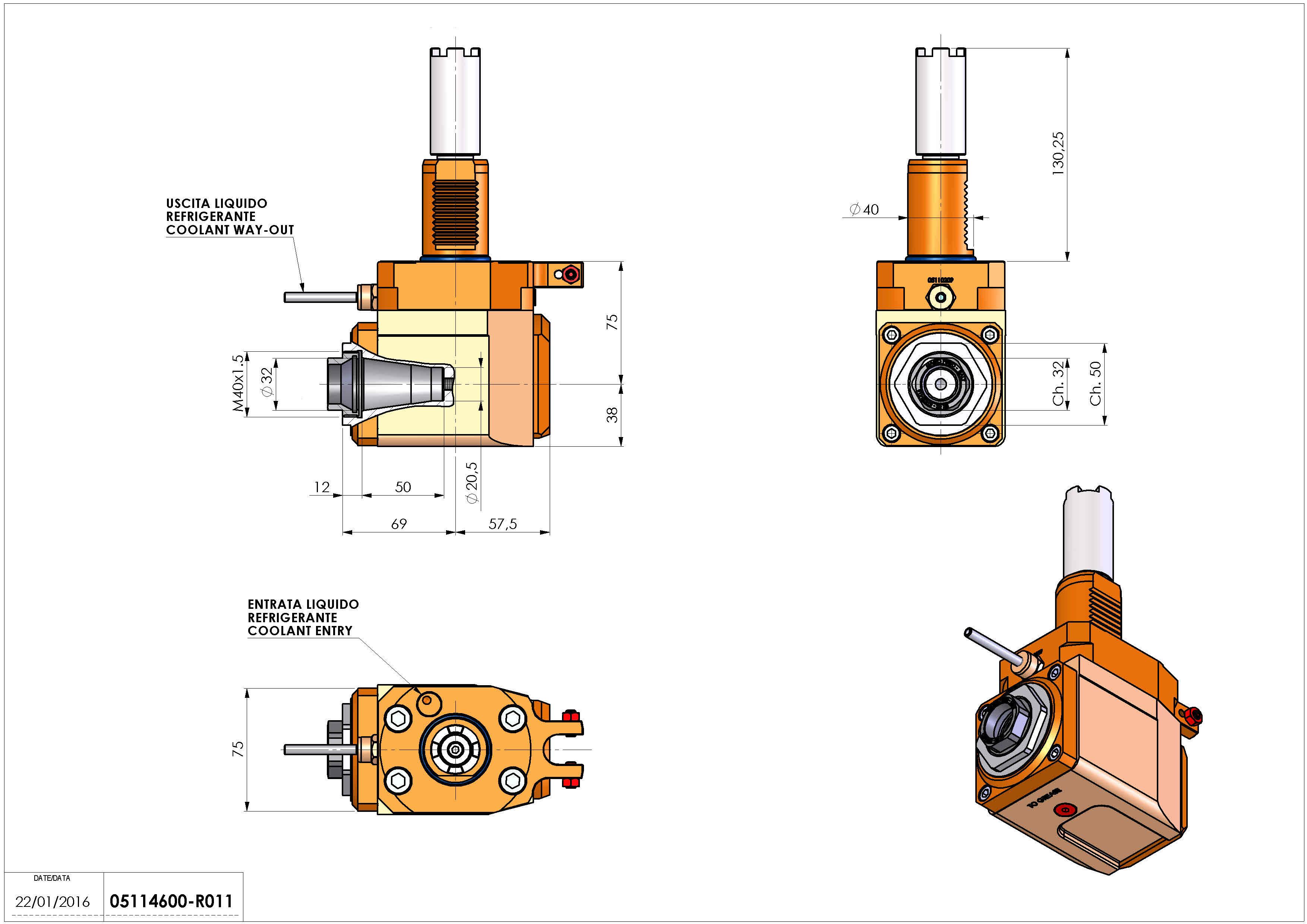 Technical image - LT-A VDI40 ER32F H75 130 HA.
