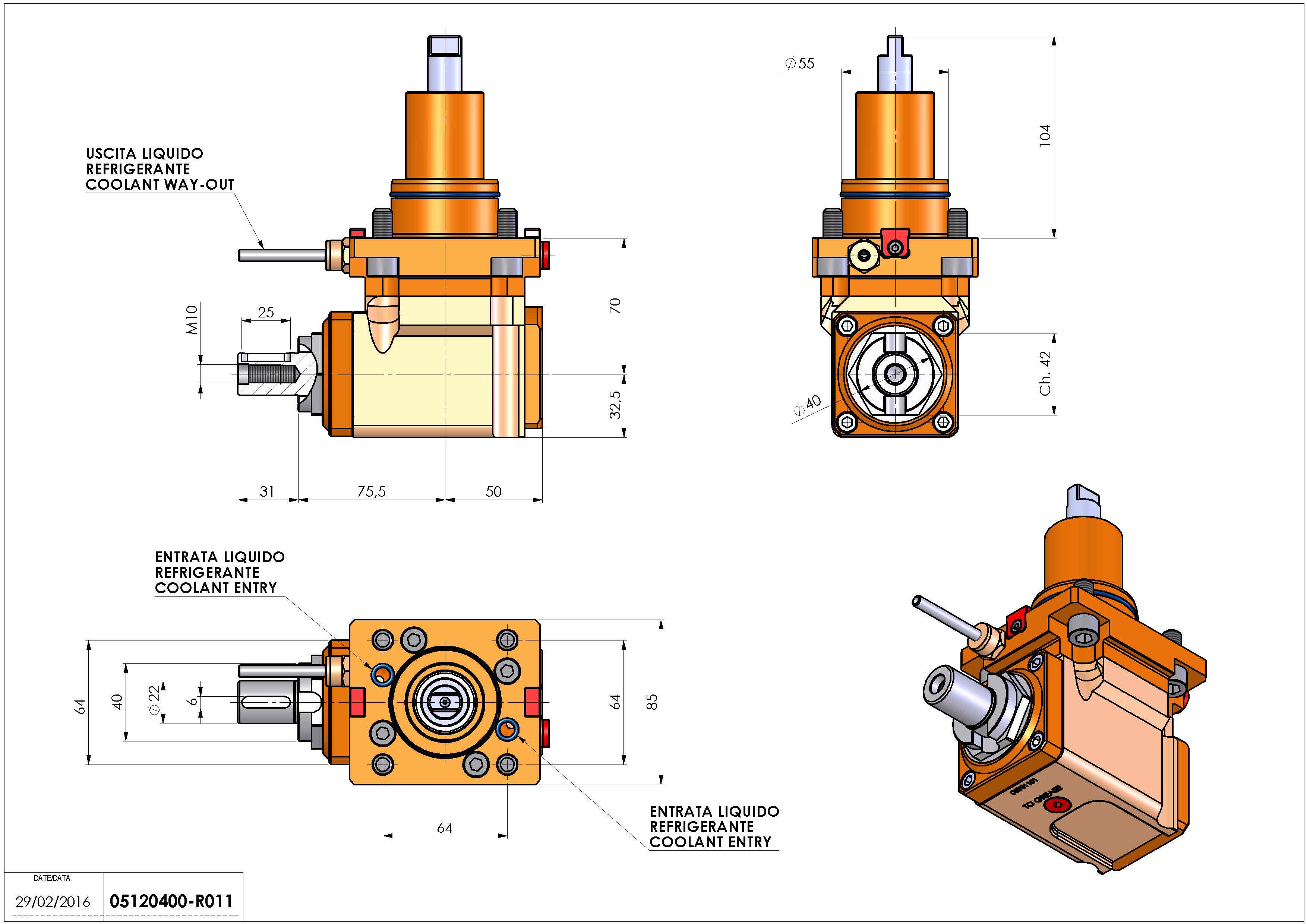 Technical image - LT-A BMT55 DIN138-22 H70 DW.