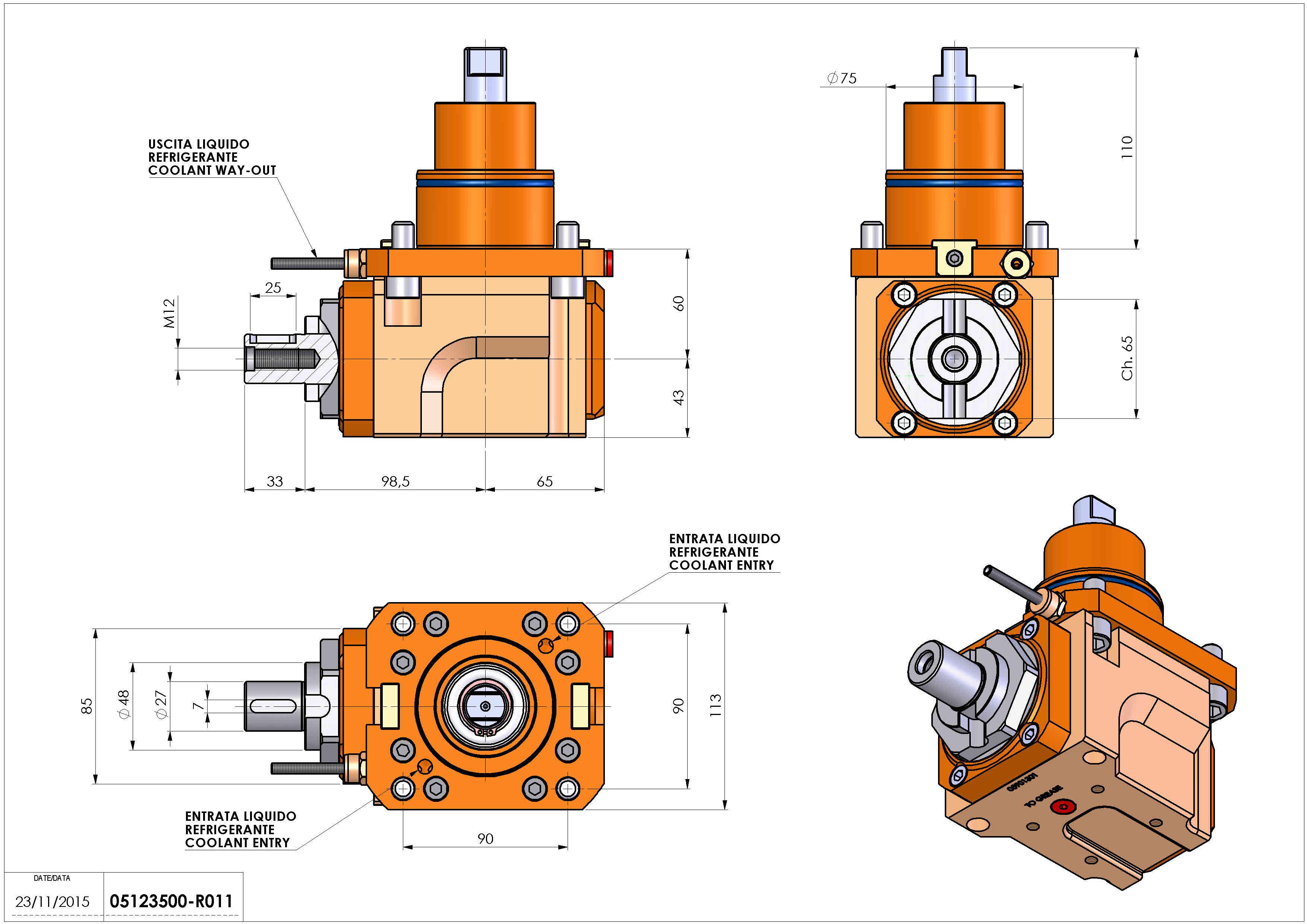 Technical image - LT-A BMT75 DIN138-27 H60 DW.