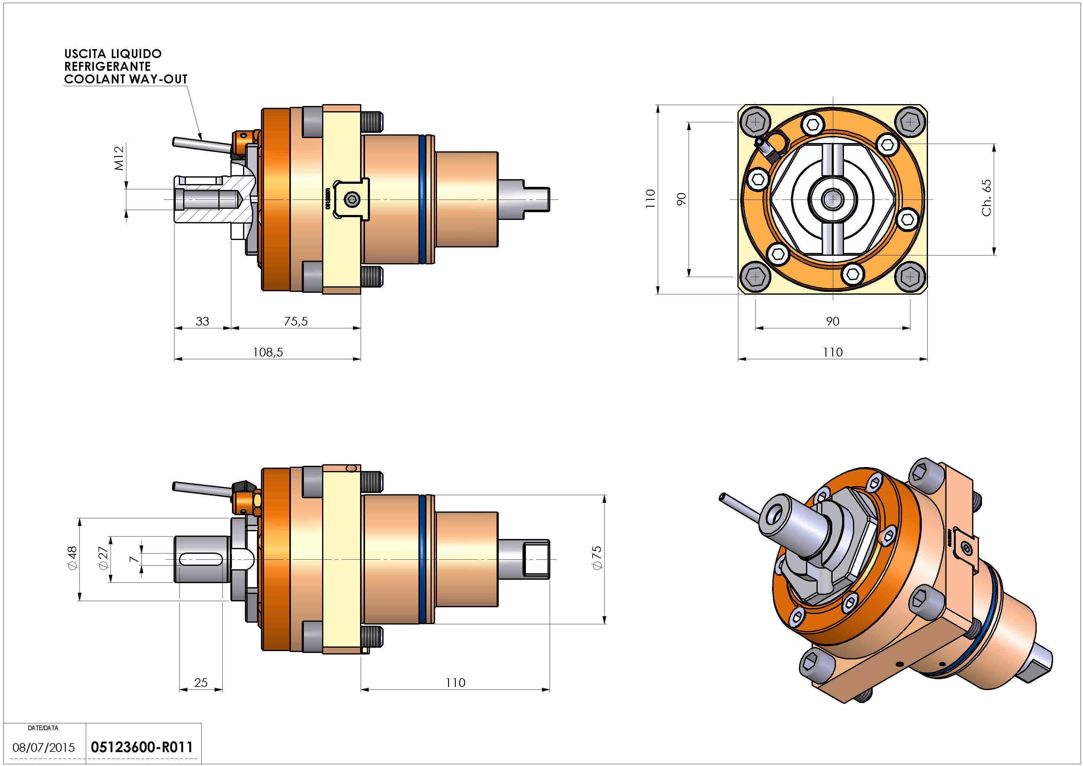 Technical image - LT-S BMT75 DIN138-27 H75 DW.