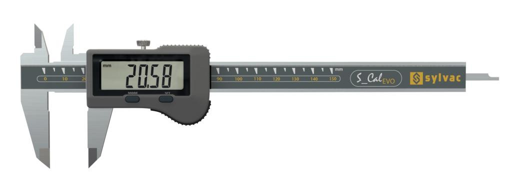 Sylvac 30-810-15 IP67 S_CAL EVO Caliper with Flat Depth rod.